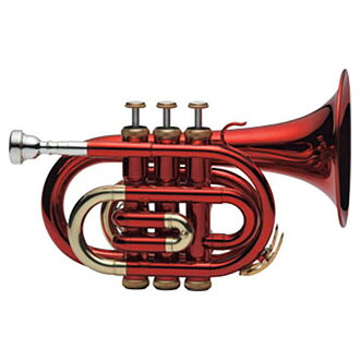 J.Michael TR-400PCL RED pocket trumpet color red