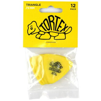 JIM DUNLOP Tortex Triangle 0.73mm Yellow Player's Pack吉他選取12張包