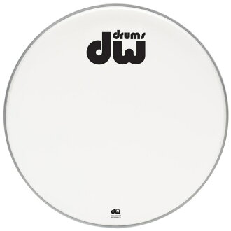 DW DW-DH-ACW24K AA Two-Ply White Drum Heads Coe Ted bass drum 24 inches drumhead
