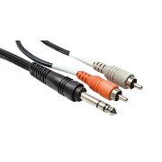 HosaTRS-2011mステレオフォンオス-RCAオス×2インサーションケーブルアウトレット