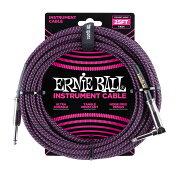 ERNIEBALL#606825ftBraidedCablesBlack/Purpleギターケーブル