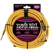 ERNIEBALL#607025ftBraidedCablesGold/Goldギターケーブル