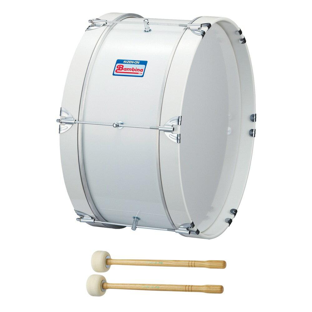全音 PG-1NW バンビーナ マーチング バスドラム 白 マレット付き