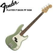 FenderPlayerPrecisionBassPFSageGreenMetallicエレキベース