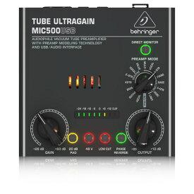 BEHRINGER MIC500USB TUBE ULTRAGAIN 真空管 マイクプリアンプ