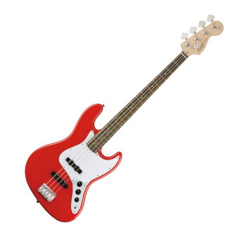 Squier Affinity Series Jazz Bass Laurel Race Red electric guitar base