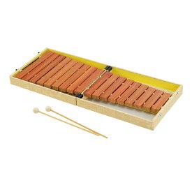 全音 No.185BK コンパクト木琴 バチ付き