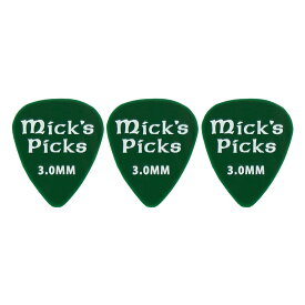 Mick's Picks SPINK Bass Picks 3.0mm ピック 3枚セット