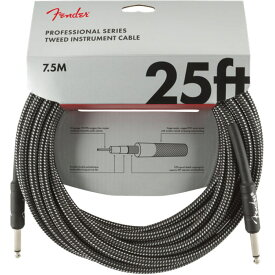 Fender Professional Series Instrument Cable SS 25' Gray Tweed ギターケーブル