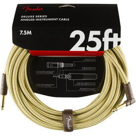 Fender Deluxe Series Instrument Cables SL 25' Tweed ギターケーブル