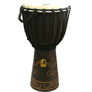 TOCA TODJ-10LN Origins Series Carved Djembe 10 LION ジャンベ