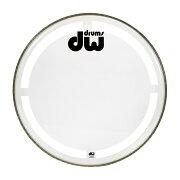 DWDW-DH-CC22KCoatedClearDrumHeadコーテッドクリアバスドラム22インチドラムヘッド