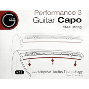 G7thG7thPerformance3ARTCapoシルバーギター用カポタスト