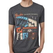 FenderJaguarT-ShirtDarkGreyL半袖Tシャツ