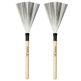 VATER VWTW Wood Handle Wire Brush ペア ドラムブラシ