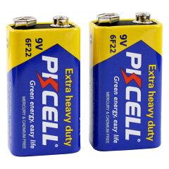 PKCELLBATTERY6F22-2BZinkCarbon9V2pcspack9Vマンガン電池2個パック