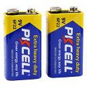 【9Vマンガン電池 2個パック】 PKCELL BATTERY 6F22-2B