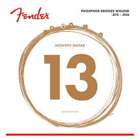 Fender Phosphor Bronze Acoustic Guitar Strings Ball End 60M 013-056 Gauges アコースティックギター弦
