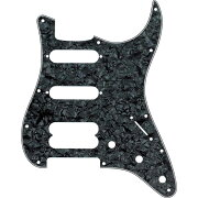 FenderPickguardStratocasterH/S/S11-HoleMountNoHolesDrilledForHumbuckingPickupMountBlackPearl4-Plyピックガード