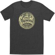 FenderCaliMedallionMen'sTeeGrayL半袖Tシャツ