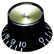 SCUDKB-130TGIブラックゴールドキャップインチサイズトーンコントロールノブ
