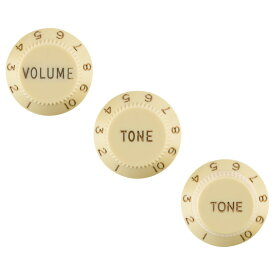 Fender Stratocaster Knobs Aged White Volume Tone Tone 3 Left-Handed コントロールノブ 3個セット