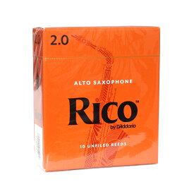 D'Addario Woodwinds/RICO RJA1020 リコ アルトサクソフォン リード 2 10枚入