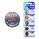 【リチウム ボタン電池CR2032 5個パック】 PKCELL BATTERY CR2032-5B 3.0V