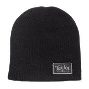 TaylorBeanieTaylorPatchBlackニット帽00114