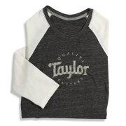 TaylorLadiesBaseball3/4SleeveT-ShirtsSサイズBlack/NaturalTシャツ43104