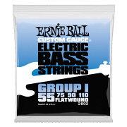 ERNIEBALL2802FlatwoundGroupI55-110Gaugeエレキベース弦