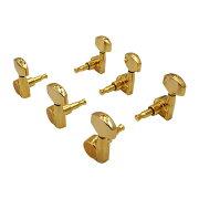 SCUD07202GS3+3ゴールドシャーラータイプギターペグ