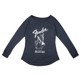 Fender Mermaid Women's Long Sleeve Navy Mサイズ Tシャツ 長袖