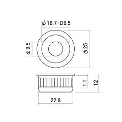 SCUDJP-32Cクロームサイドジャックプレート