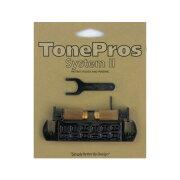 ToneProsAVT2P-BWraparoundBridgeブラックギター用ブリッジ
