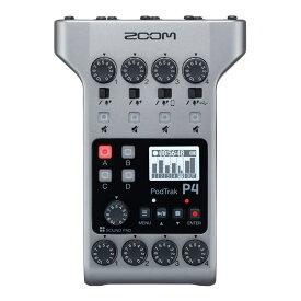 ZOOM PodTrak P4 マルチトラック ポッドキャストレコーダー
