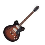 GRETSCHG2622-P90StreamlinerCenterBlockDouble-CutP90withV-StoptailHavanaBurstエレキギター