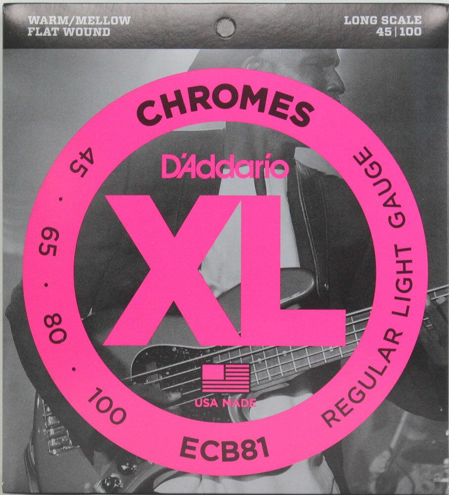 D'Addario ECB81/フラットワウンド エレキベース弦