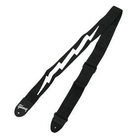 GIBSON ASGSBL-10/BK ライトニングボルト ギターストラップ