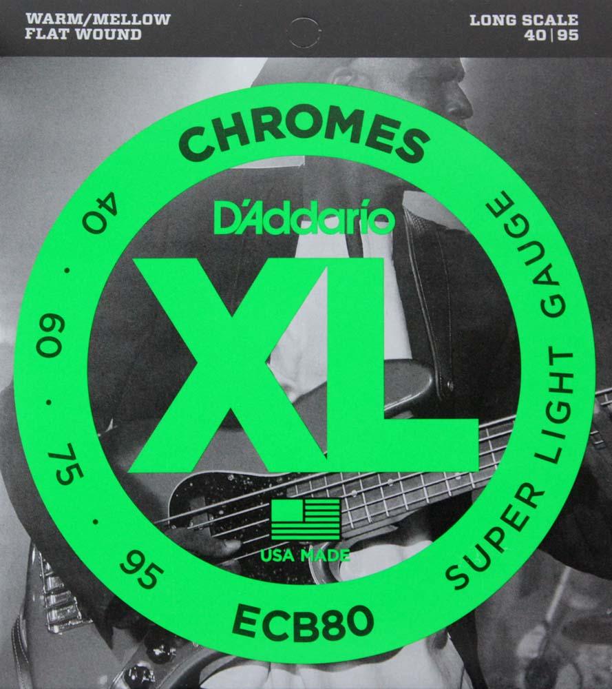 D'Addario ECB80/フラットワウンド エレキベース弦