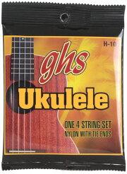GHSH-10/HawaiianUkuleleBlackNylonウクレレ弦GHSスタンダードブラックナイロンウクレレ弦