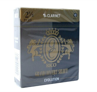 D ' Addario Woodwinds/RICO LRICGECL2.5 Grand concert select B flat clarinet Reed evolution