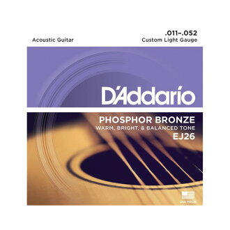D'Addario EJ26/Phosphor Bronze/Custom Light 어쿼스틱 기타현