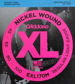 D'Addario EXL170M ミディアムスケール ベース弦