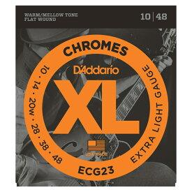 D'Addario ECG23 フラットワウンド エレキギター弦