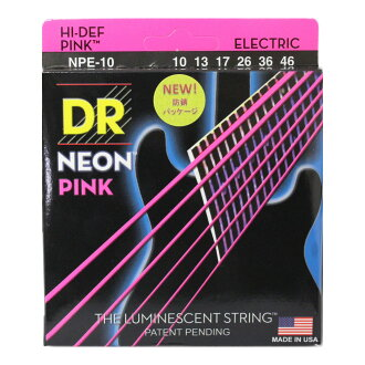 DR NEON PINK DR-NPE10 Medium electric guitar strings