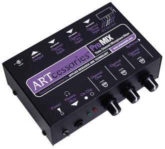 ART Pro Mix 3 채널 마이크 전치 증폭기 내장 소형 믹서