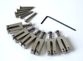 """GRAPH TECH PG-8000-00 STRING SAVER CLASSICS FOR STRAT & TELE 2 1/16"""" SPACING STAINLESS ブリッジサドル"""