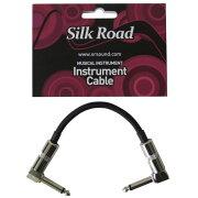 SilkRoadLG104-0.15MBKギターパッチケーブル15cmLLプラグシルクロードエフェクター間の接続に便利なシールド