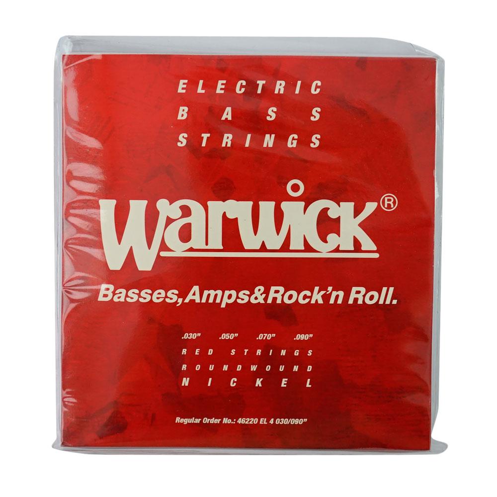 WARWICK 46220 RED nickel 4-string Set EL 030-090 ベース弦